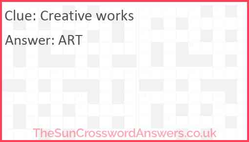 Creative works Answer