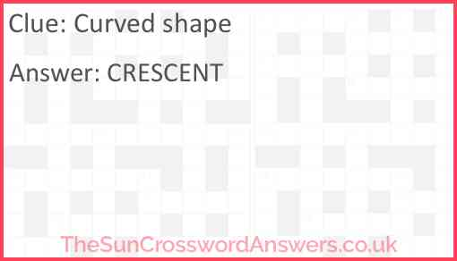 Curved shape Answer