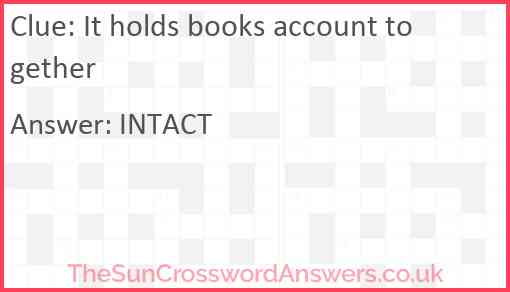 It holds books account together Answer