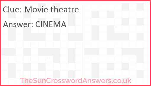 Movie theatre Answer