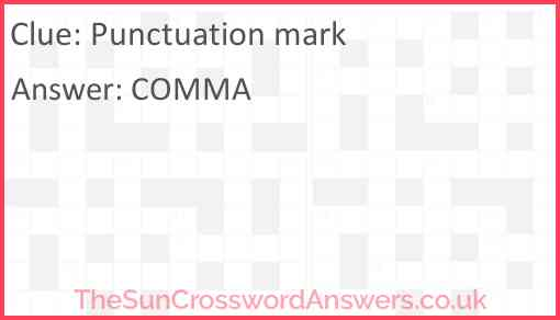 Punctuation mark Answer